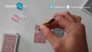 X ray contact lenses to see through regular playing cards