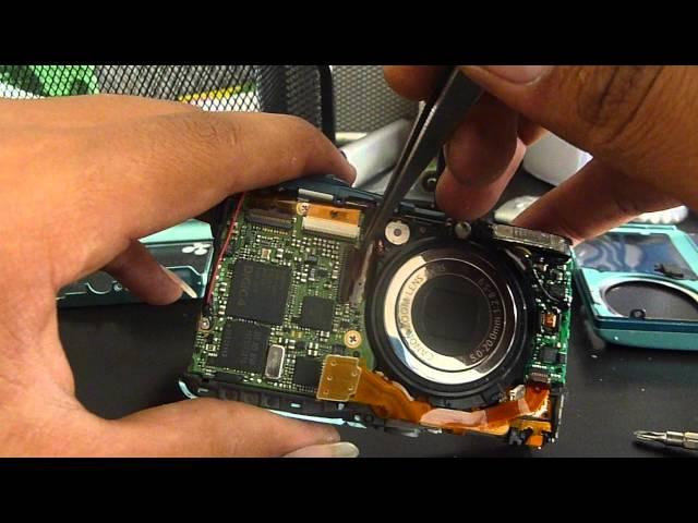 tutorial reparación de cámara digital canon sd1300 error de reinicie la cámara 1/5
