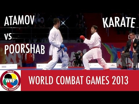 Karate Men's Kumite +84kg. ATAMOV vs POORSHAB. World Combat Games 2013
