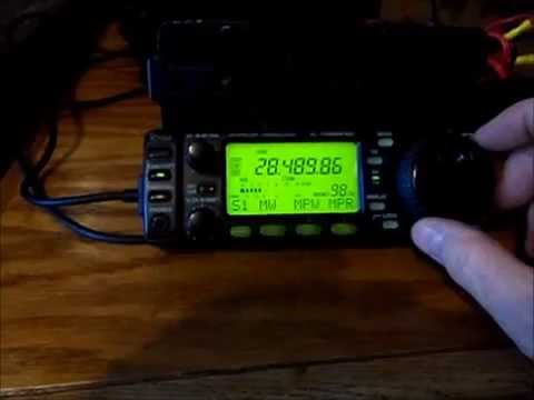 Make your HF Ham Antenna, Listen to ICOM 706MKIIG,  Amateur, High Frequency Bands