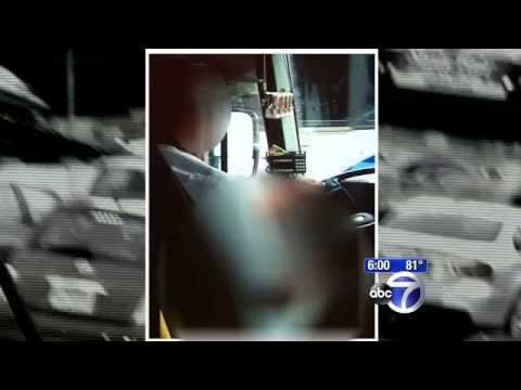 Shock Video  N J  Bus Driver Suspended After Passenger Catches Him Masturbating On Job video