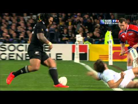 final All blacks vs France rugby world cup new zealand 2011. second half-time