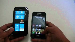 Samsung Galaxy Ace vs Nokia Lumia 710
