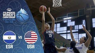 LIVE - El Salvador v USA - FIBA U16 Women's Americas Championship 2019