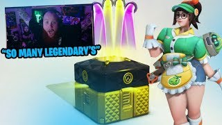 100 *ANNIVERSARY* OVERWATCH LOOT BOX OPENING & SEASON 16 PLACEMENTS P1 - Overwatch