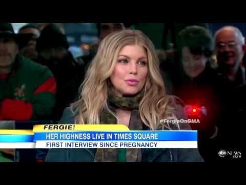 Fergie Talks Pregnancy on Good Morning America 03/21/2013