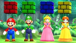 Mario Party 9 - Minigames - Mario vs Luigi vs Daisy vs Peach (Master CPU)