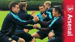 One-touch, backheels and keepy uppies as Arsenal prepare for their Champions League campaign