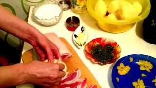 Фаршированный картофель с мясом Вторые блюда из мяса Рецепт Что приготовить в духовке вкусно видео