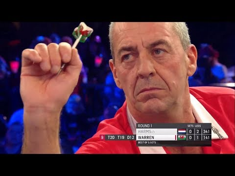 Wayne Warren narrowly misses out on 9 darter | HIGHLIGHTS from Wesley Harms game