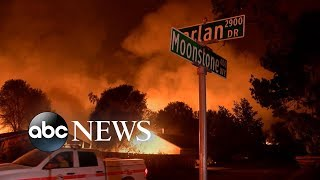 Deadly California fire burns over 90,000 acres