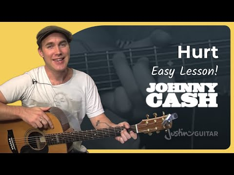 Hurt - Johnny Cash (Easy Songs Beginner Guitar Lesson BS-603) How to play