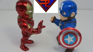 Captain America Civil War Jada Toys Metals Captain America & Iron Man Mark XLVI Diecast Toy Review