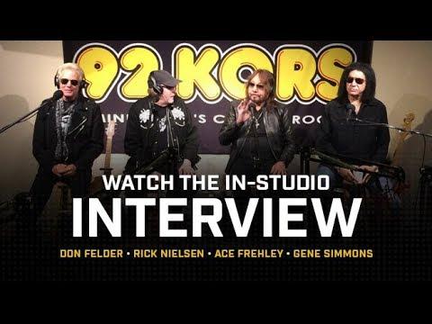 Gene Simmons, Ace Frehley, Rick Nielsen & Don Felder LIVE in Studio at KQRS