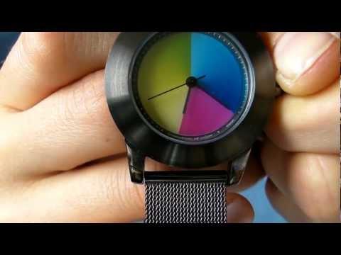 Rainbow Watch: eMotion of colors Elegancia titan - milanaise - classic