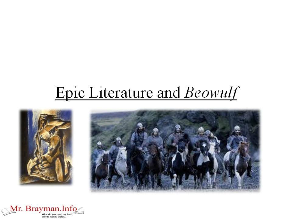 beowulf as an epic Free essay: armor in the poem beowulf armor mentioned in the poem beowulf include helmets and chain mail there are an incredible number of references to.