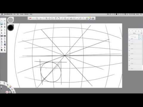 Sketchbook PRO 2015: perspective sketching tools
