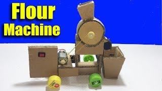 How to Make a Flour Mill Machine With Cardboard for Kids DIY at Home - Life Hacks