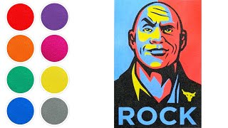 The Rock (Dwayne Johnson) Sand Art for Kids, Toddlers   Learn Play Laugh ☆