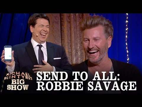 SNEAK PEEK: Send To All with Robbie Savage - Michael McIntyre's Big Show: Episode 5 - BBC One