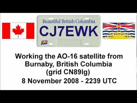 CJ7EWK working AO-16 from Burnaby BC (CN89lg) - 8 November 2008 at 2239 UTC