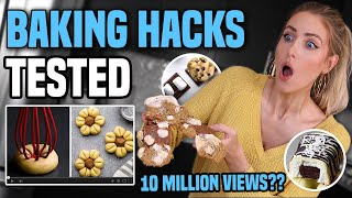 TESTING VIRAL BAKING HACKS for COOKIE DECORATING... what ACTUALLY worked???
