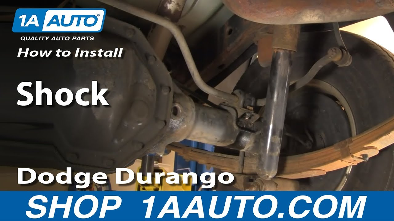 How To Install Replace Rear Shocks Dodge Durango 98-03