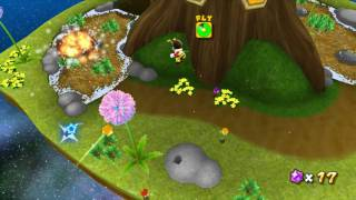 Super Mario Galaxy - Boss 3 - Bugaboom - Full-HD (1080p) Dolphin Nintendo Wii Emulator