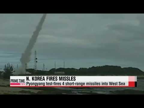 North Korea fires four short-range missiles into West Sea   북 서해로 단거리 미사일 4발 발사