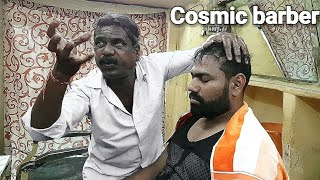 Cosmic barber head massage baba Sen ASMR.