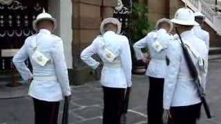 Changing of the Guards at the Thai Royal Palace