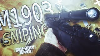 This sniper is so good!! (Call of Duty World War 2 sniping)
