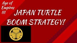 Japan Turtle Boom Strategy! AoE III