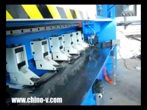 CNC metal sheet V grooving machine