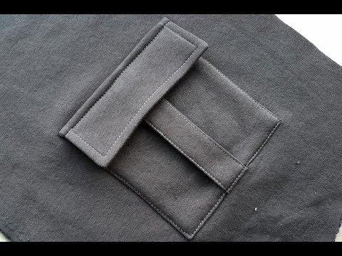 How To Sew A POCKET. Trouser Pocket .Sewing Course. Jak Uszyć Kieszeń Bojówkę Z Patką