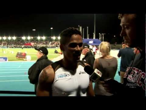 Men 400m Interviews. 2012 MTC.