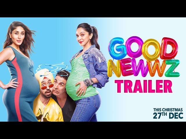 Good Newwz - Official Trailer | Akshay, Kareena, Diljit, Kiara | Raj Mehta | In cinemas 27th Dec thumbnail