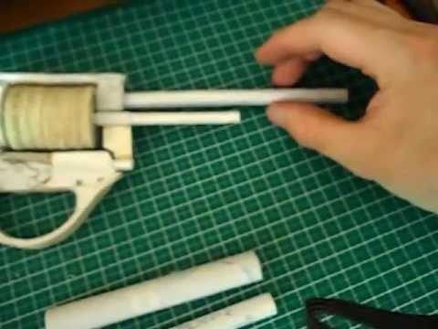 Как сделать пистолет с барабаном из бумаги