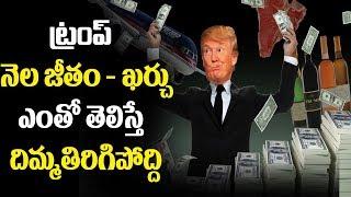 ట్రంప్ నెల జీతం   ఖర్చు  ఎంతో తెలిస్తే  దిమ్మతిరిగిపోద్ది  | Shocking Salary of Donald Trump