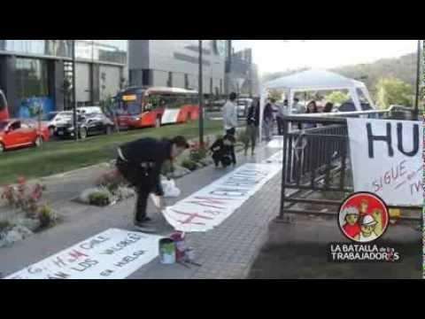 Huelga sindicato H y M en Costanera Center