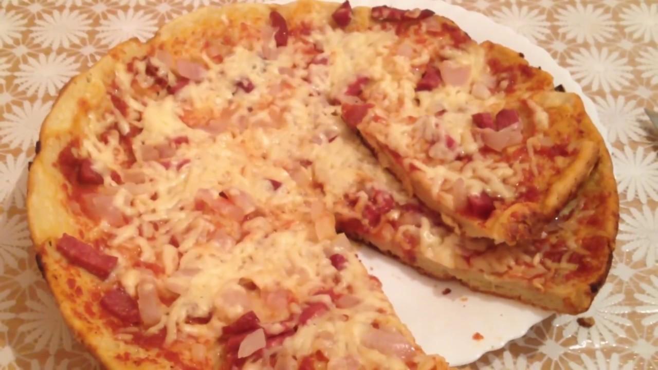 Быстрая пицца на сковороде рецепт с фото