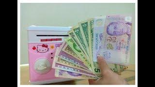 Đồ chơi trẻ em két sắt Mini thông minh rút tiền đô la mỹ USD-ATM machine toys for kids-Thỏ Hồng
