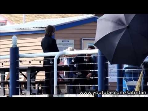 Mr. Gold and Hook Filming at the Docks
