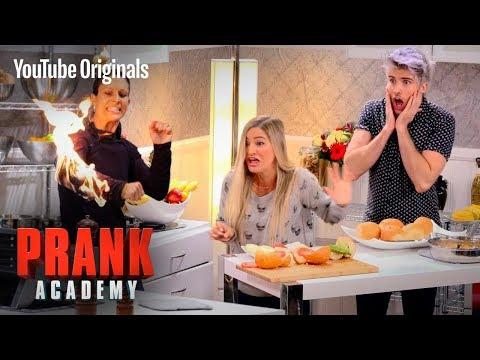 GIRL CAUGHT ON FIRE PRANK!!! | Prank Academy | Episode 1