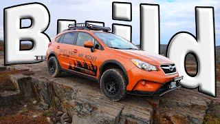 Building The OFFROAD Subaru Crosstrek Makery And Mischief Adventure Mobile With LP Aventure