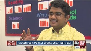 Student gets perfect score on AP tests and SAT