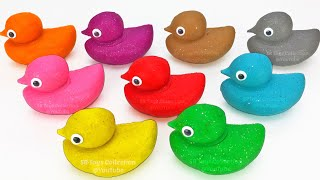 Learn Colors with 9 Color Play Doh Duck and Animals Molds | PJ Masks Chupa Chups Surprise Eggs