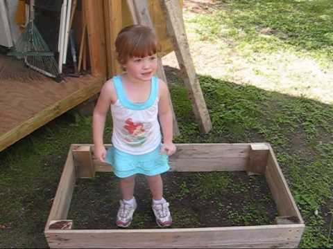 Pallet Recycling - Garlic Raised Bed and Compost Bin