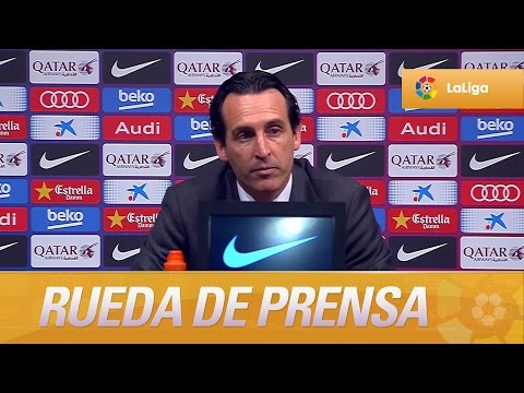 Rueda de prensa de Unai Emery tras el FC Barcelona (2-1) Sevilla FC