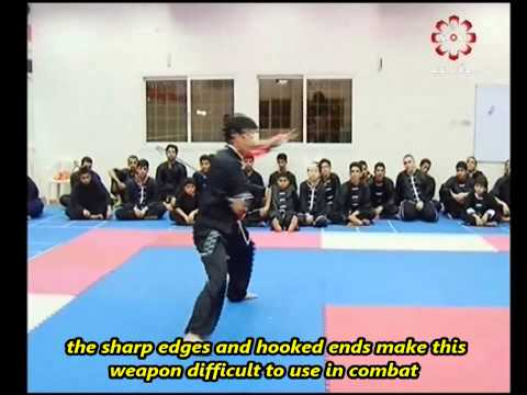 Part 8: Double Crescent Sword - Kuwait Sports Channel Martial Arts Special w/ Sifu Khader Deng